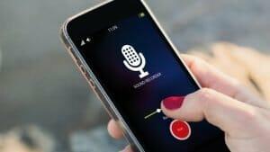 sound recorder on iPhone